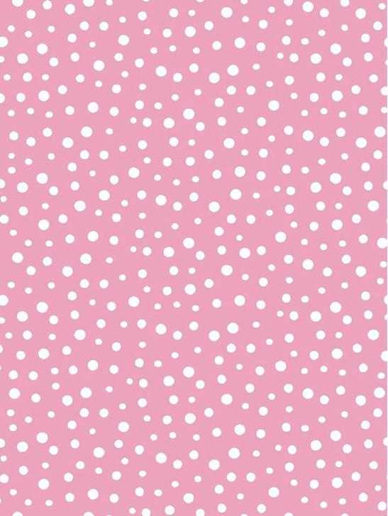 Susybee Flip the Pig Irregular Dot Pink Cotton Quilting Fabric 1/2 YARD