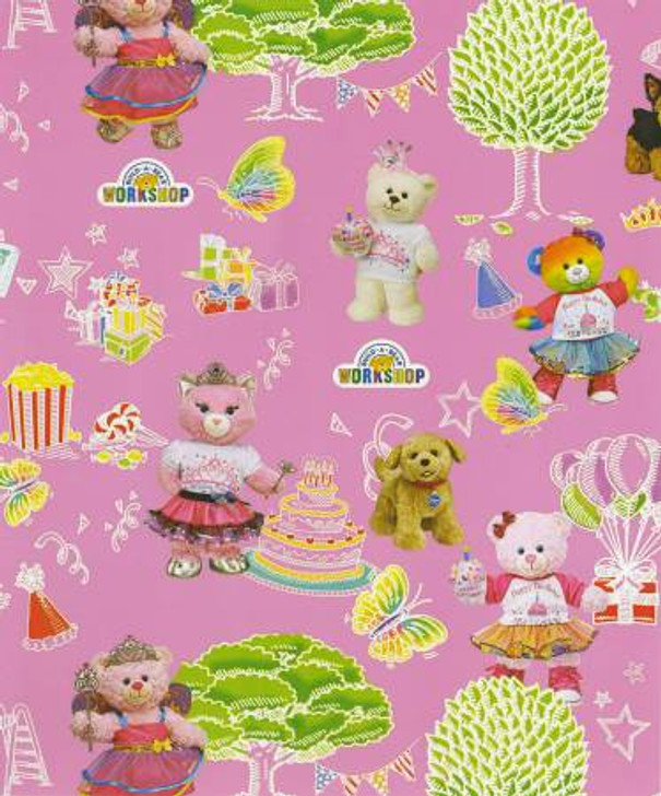 Build A Bear Workshop Party in the Park Allover Cotton Quilting Fabric 1/2 YARD