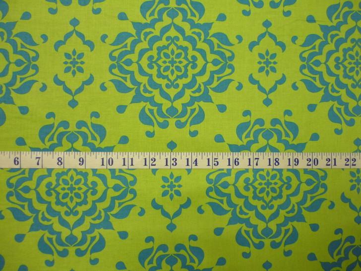 Riley Blake Splendor Large Damask Green Cotton Quilting Fabric 1/2 YARD