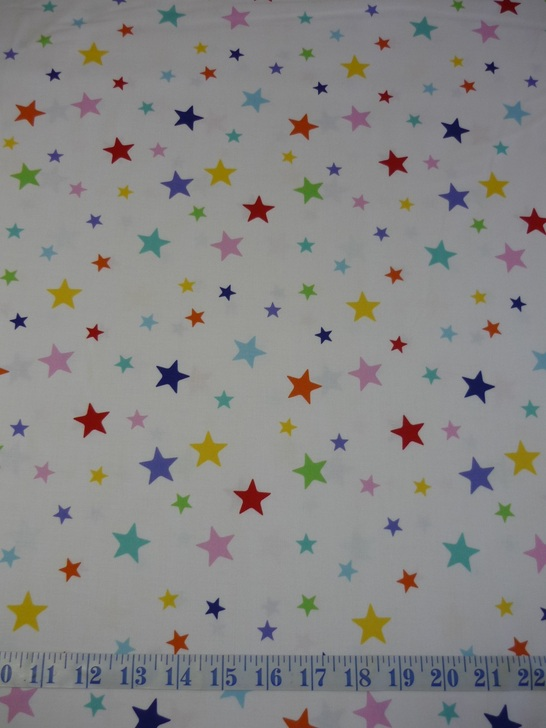 Aussie Christmas Festive Friends Allover Stars Cotton Quilting Fabric
