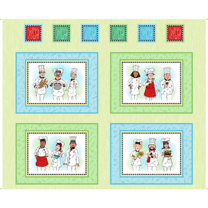 Chefs Special Picture Patches Cotton Quilting Fabric Panel