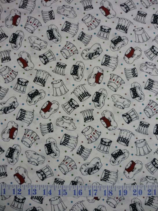Chefs Special Chefs Hats Cotton Quilting Fabric