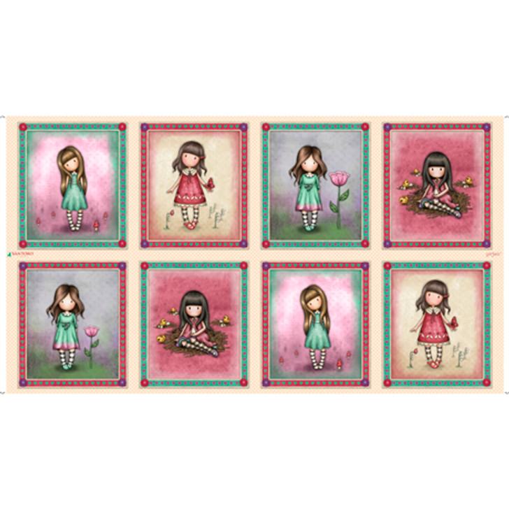 Truly Gorjuss Girls Medium Picture Patches Cotton Quilting Fabric Panel
