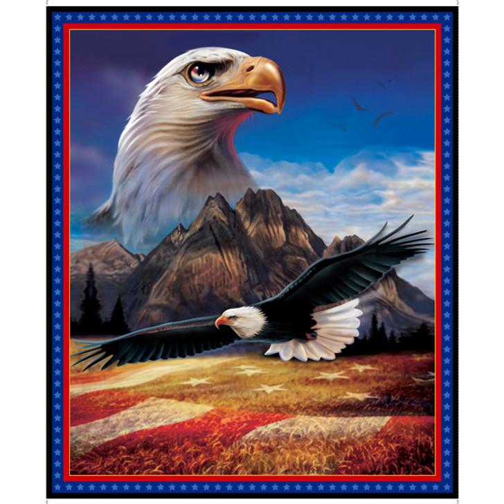 American Eagle Artworks XVI Cotton Quilting Fabric Panel