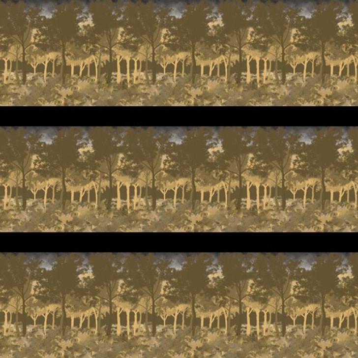 Remembering Vietnam War ANZACS Jungle Stripe Beige Cotton Quilting Fabric