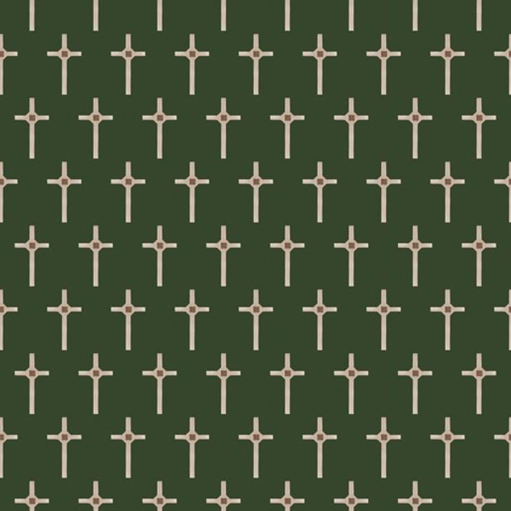 Remembering Vietnam War ANZACS Long Tan Cross Bottle Green Cotton Quilting Fabric