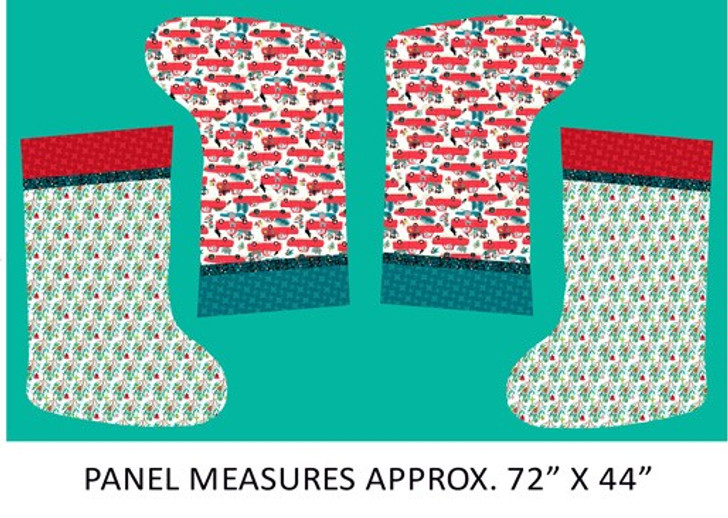 Aussie Bush Extra Large Christmas Stockings Cotton Quilting Fabric Panel