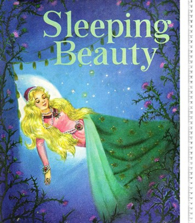 Disney Sleeping Beauty Story Time Vintage Cotton Quilting Fabric Panel