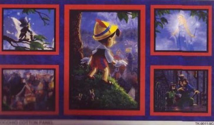 Pinocchio Wish Upon A Star Thomas Kinkade Cotton Quilting Fabric Panel