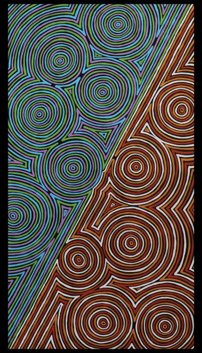 Ngurambang Aboriginal Art Marbaanarbaa Cotton Quilting Fabric Panel