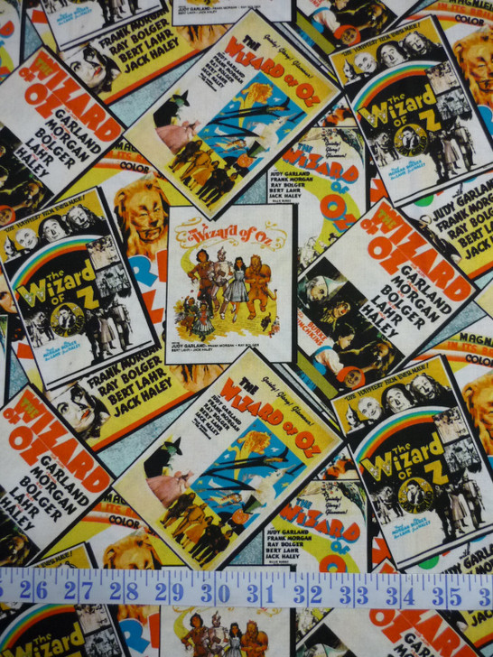 Wizard of Oz Posters Multi Cotton Quilting Fabric
