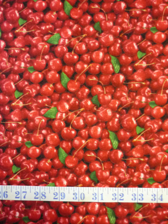 Cherries Red Food Festival Cotton Quilting Fabric