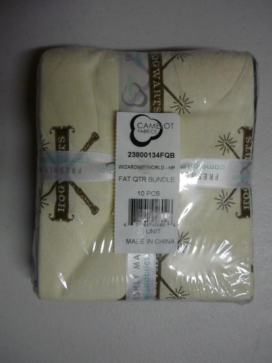 Harry Potter Wizarding World 10 Piece Fat Quarter Bundle Cotton Quilting Fabric