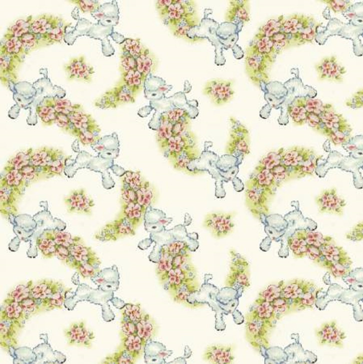 Sheep Lambs Multi Thats My Baby Cotton Quilting Fabric 1/2 YARD
