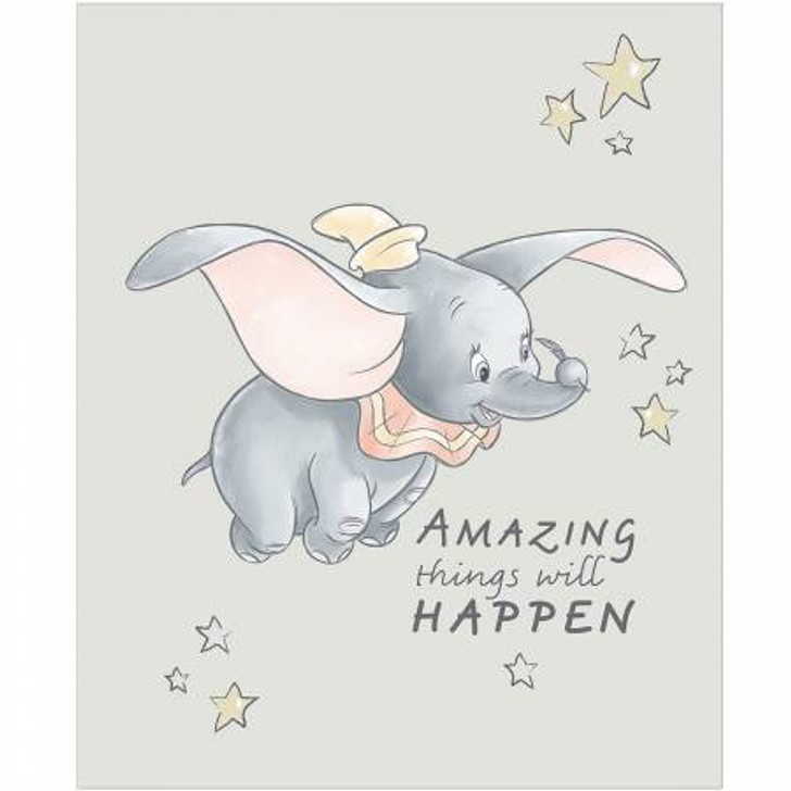 Disney Sentimental Dumbo Amazing Things Will Happen Cotton Quilting Fabric Panel