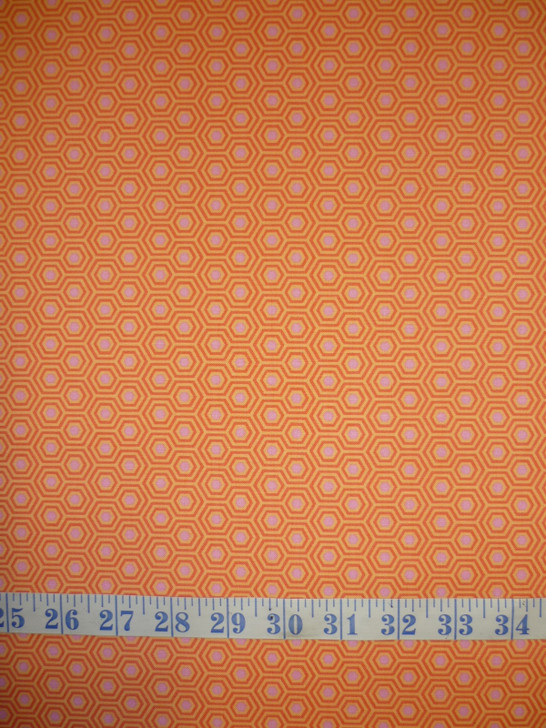 True Colours Hexy Peach Blossom Tula Pink Cotton Quilting Fabric