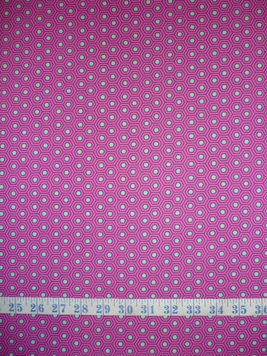 True Colours Hexy Thistle Tula Pink Cotton Quilting Fabric