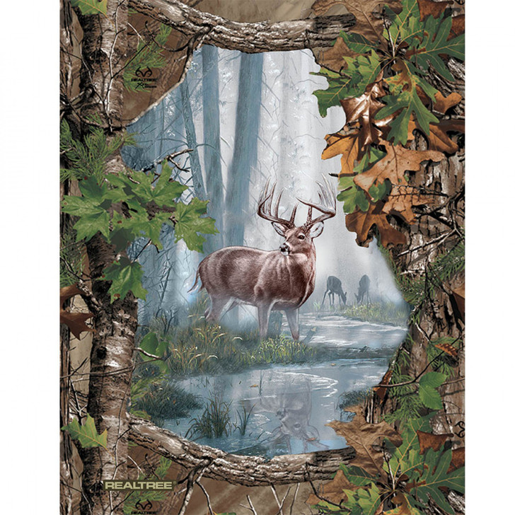 Realtree Heritage Proud Deer Cotton Quilting Fabric Panel