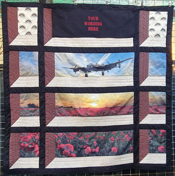 Anzac Field of the Fallen RAAF Centenary Precut Quilt Kit with Wording