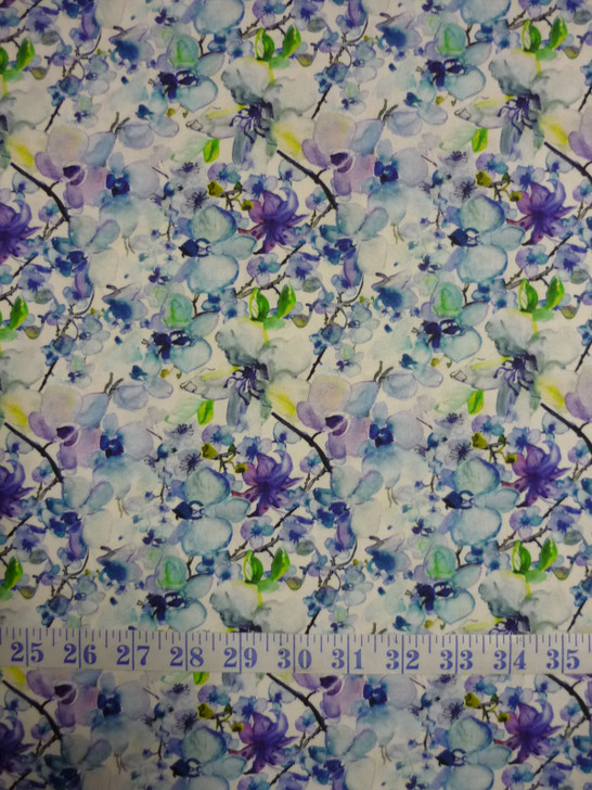 Leah Collection Allover Floral Cotton Quilting Fabric
