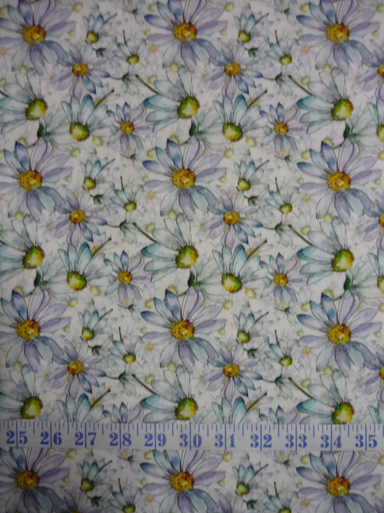 Leah Collection Daisies Floral Cotton Quilting Fabric