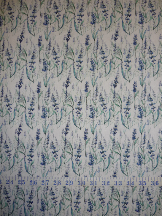 Leah Collection Lavender Floral Cotton Quilting Fabric
