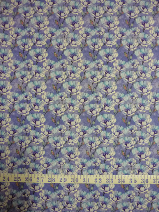 Leah Collection Large Magnolia Floral Cotton Quilting Fabric
