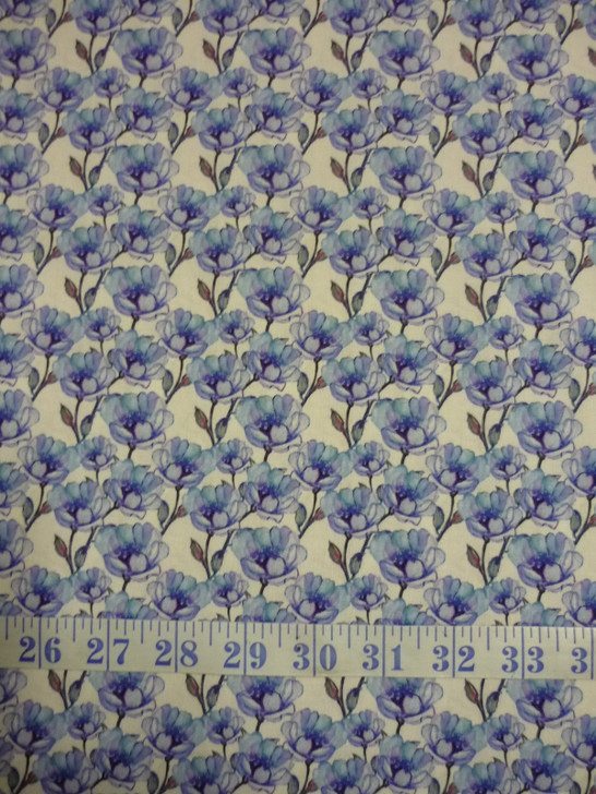 Leah Collection Small Magnolia Floral Cotton Quilting Fabric