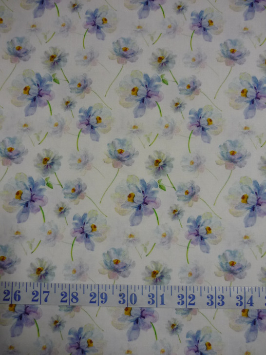 Leah Collection Blooms Floral Cotton Quilting Fabric