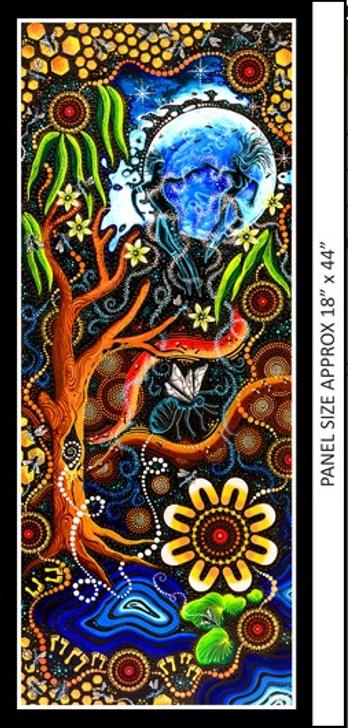 Aboriginal Art Spirit of the Bush Mother Bee – Martu Ulhu Cotton Quilting Fabric Panel
