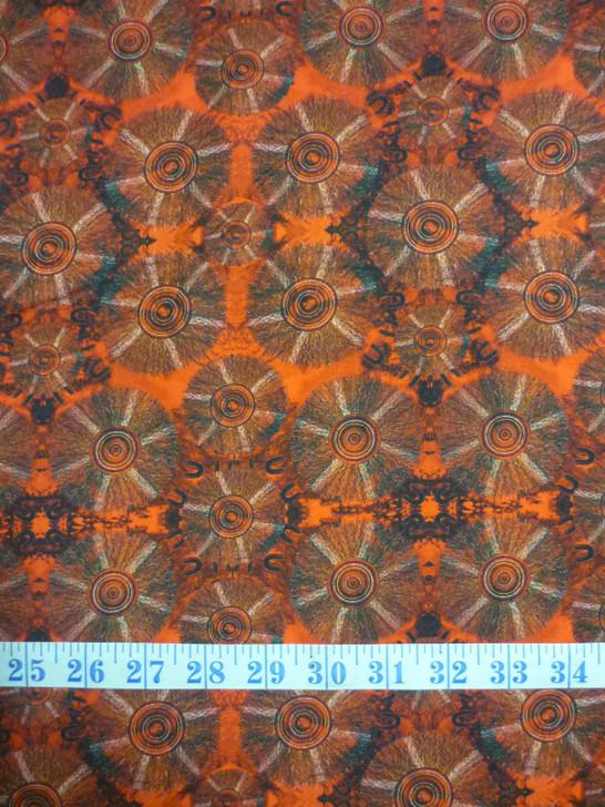Aboriginal Art Spirit of the Bush Grass Weaving – Kathit Ngkaarli Cotton Quilting Fabric