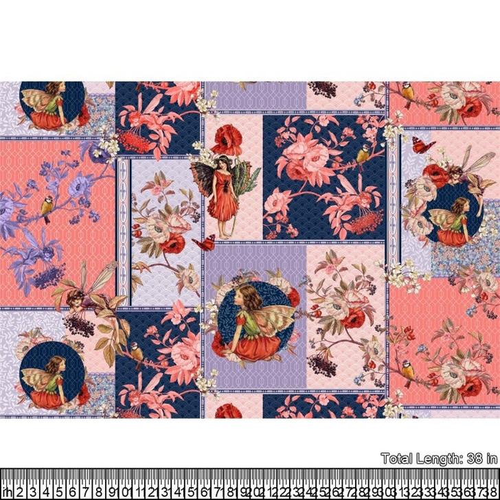 Flower Fairies Elderberry Collage Cotton Quilting Fabric