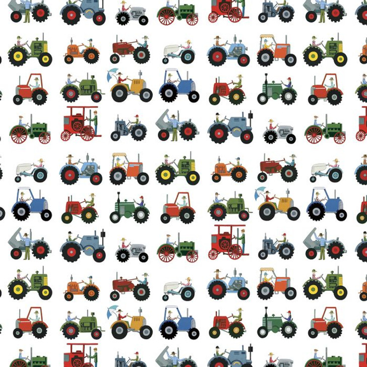 Anywhere is Paradise Tractor Show DV3987 Cotton Quilting Fabric