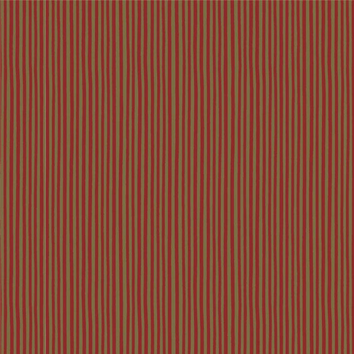 Anywhere is Paradise Red Khaki Stripe DV3991 Cotton Quilting Fabric