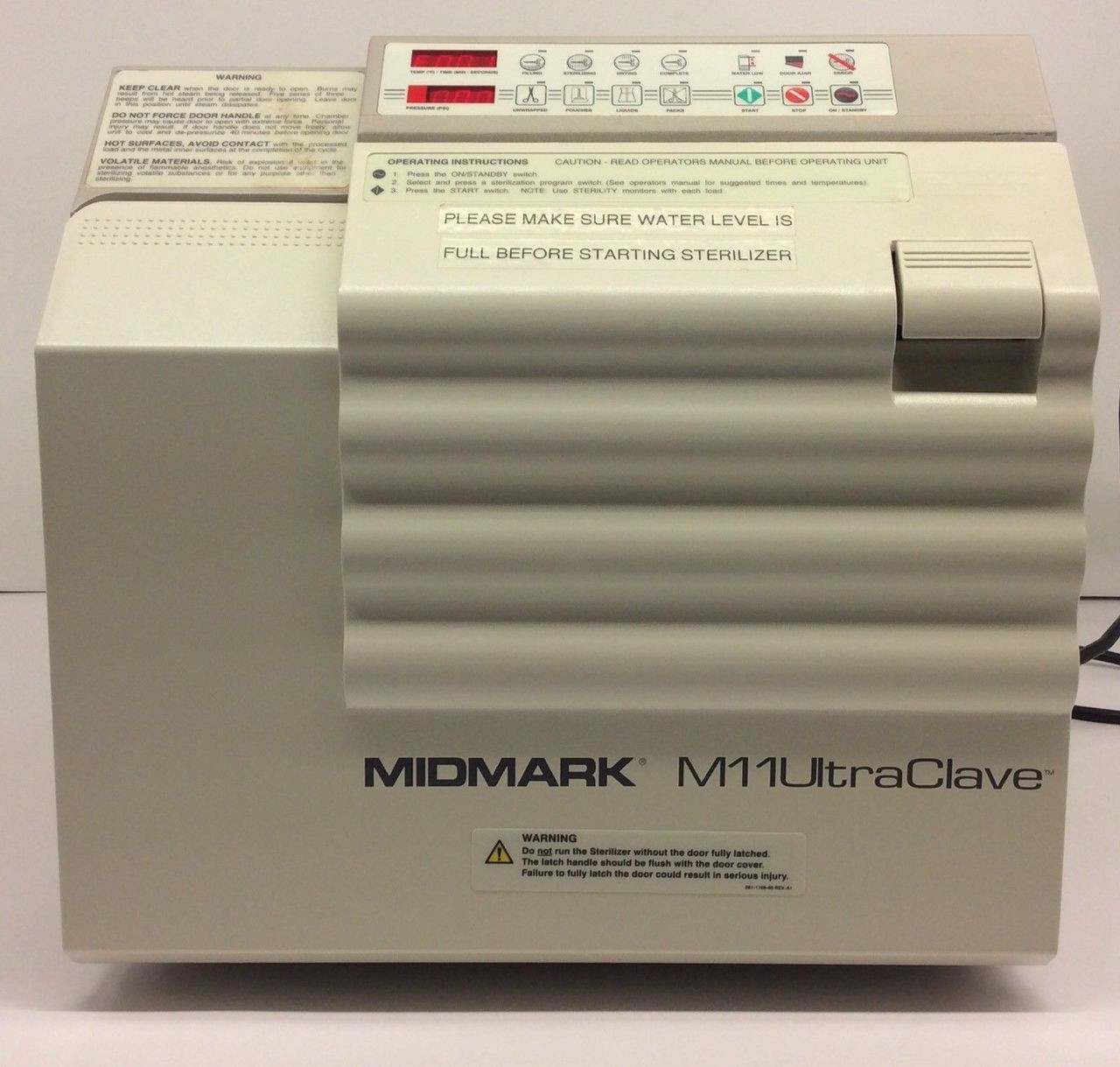refurbished midmark ritter m11 ultraclave  autoclave depot