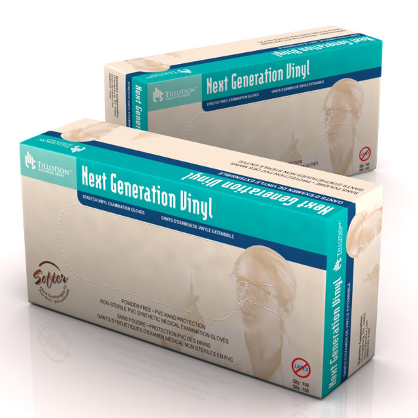 Next Generation Stretch Vinyl Exam Gloves (Small) Case of 10 Boxes (6822)