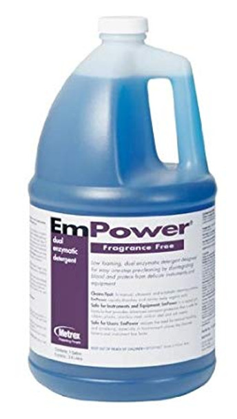 Metrex EmPower 10-4400 Dual Enzymatic Detergent (Fragrance Free) Gallon
