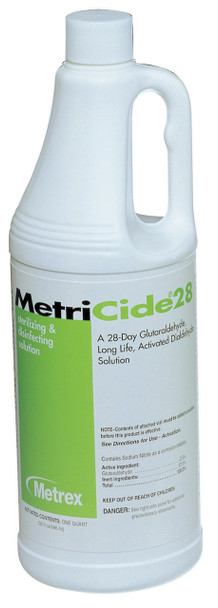 Metrex MetriCide 28 Sterilizing & Disinfectant Solution (Quart) 10-2805