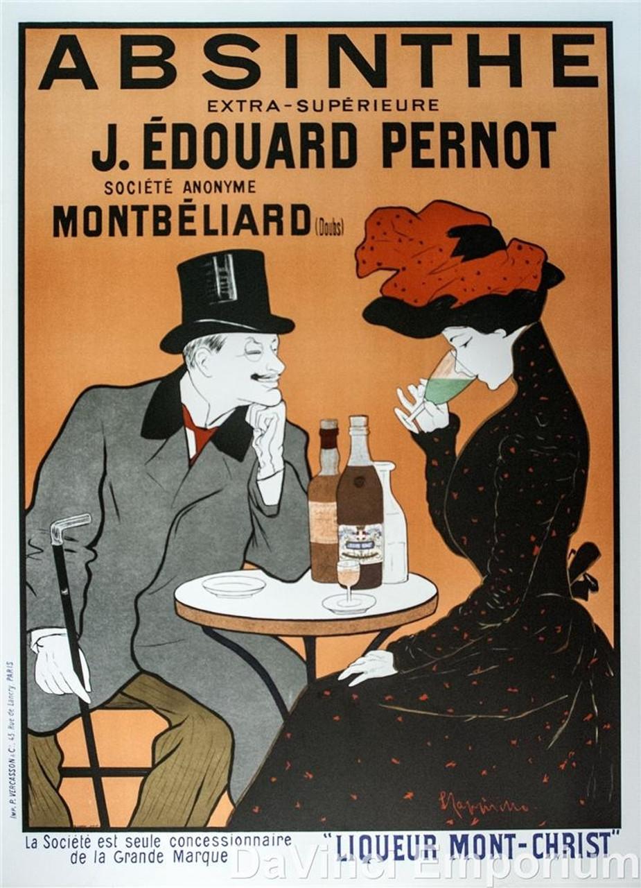 Edouard Pernot Poster Fine Art Lithograph Leonetto Cappiello S2 Absinthe J