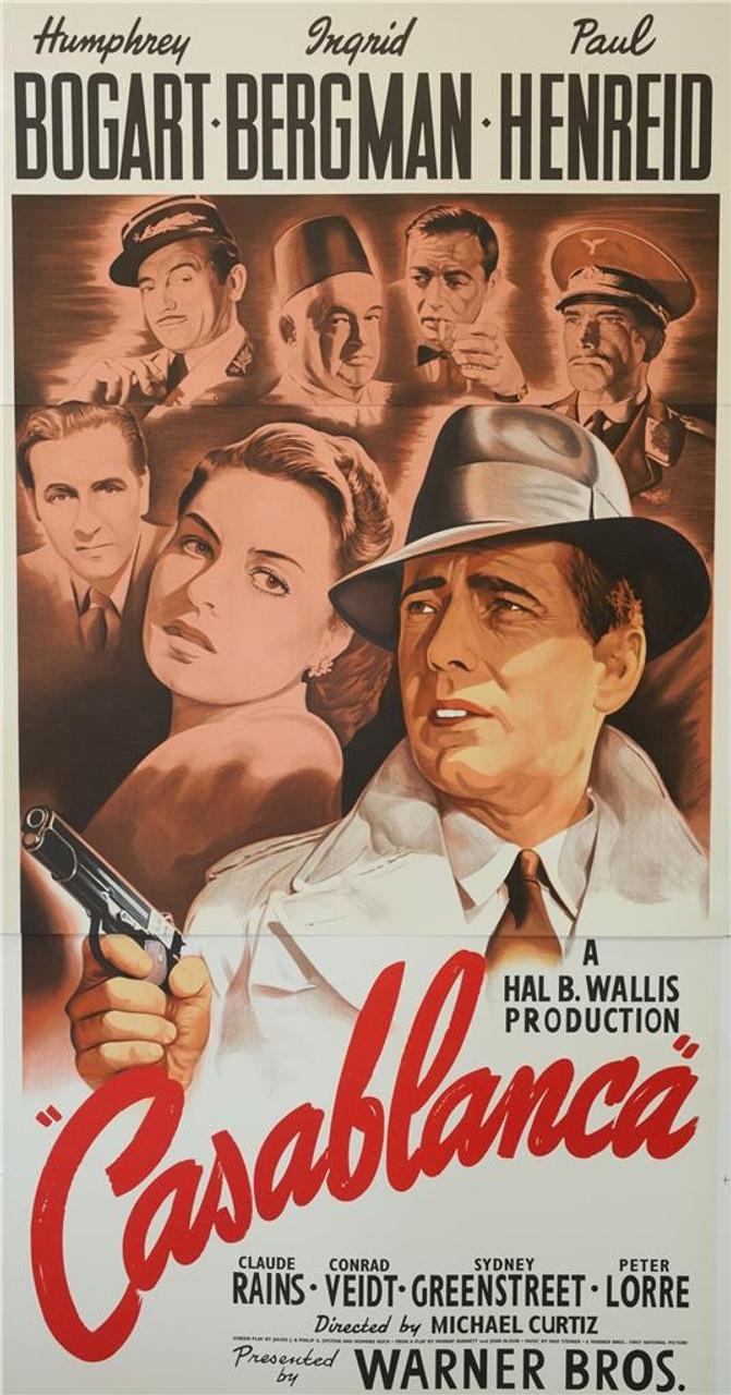 Casablanca 1942 3 Sheet Movie Poster Lithograph - DaVinci Emporium