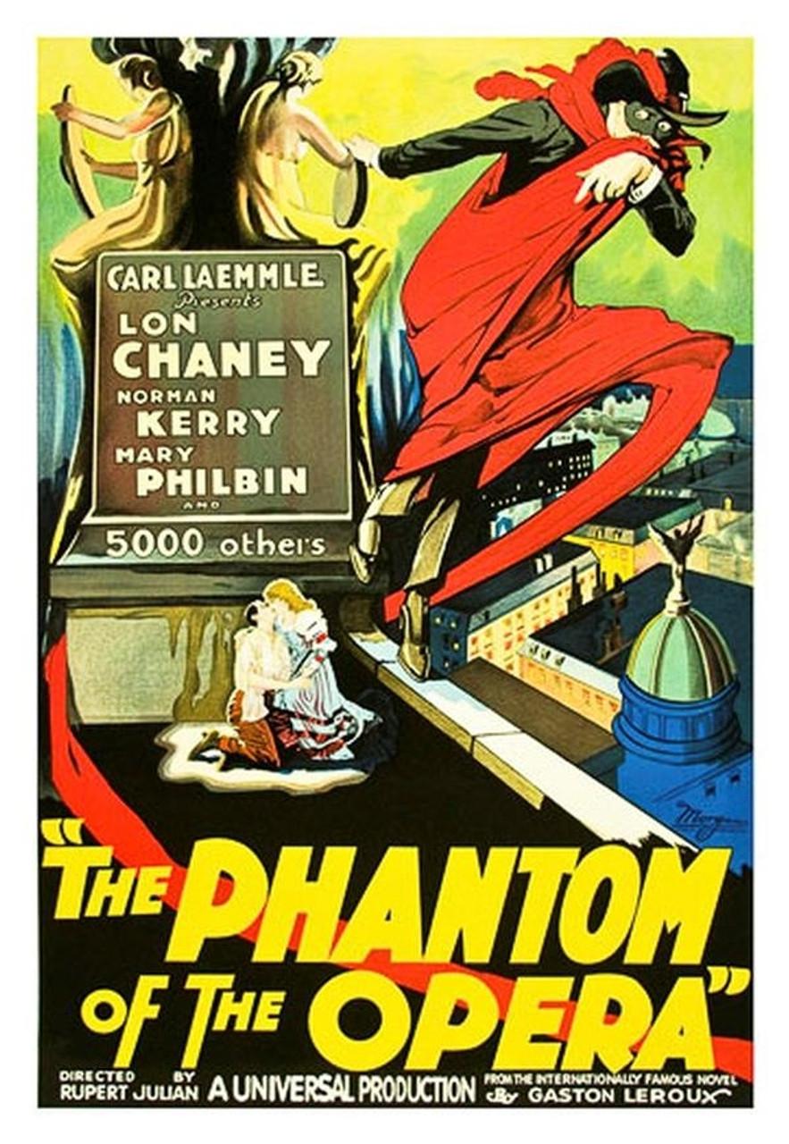 The Phantom of the Opera 1925 Movie Poster Lithograph - DaVinci Emporium