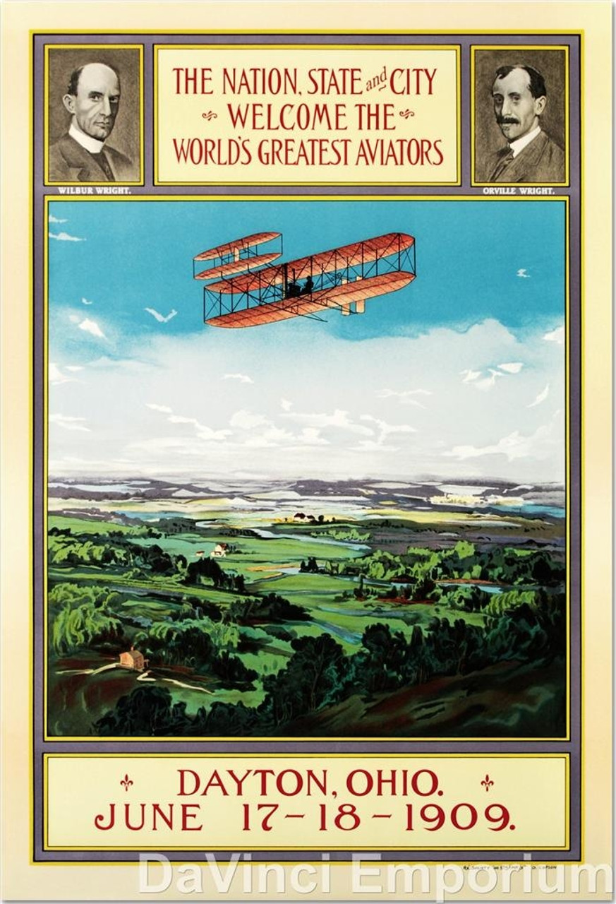 Wright Brothers Homecoming Poster Fine Art Lithograph S2