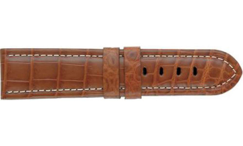Genuine Louisiana Alligator Matte Tan Panerai Watch Strap