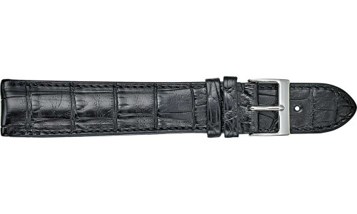 Genuine Louisiana Alligator Semi-Padded and Stitched Extra Long Watch Strap