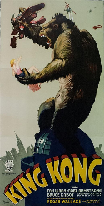 King Kong 3 Sheet Fine  Art Lithograph