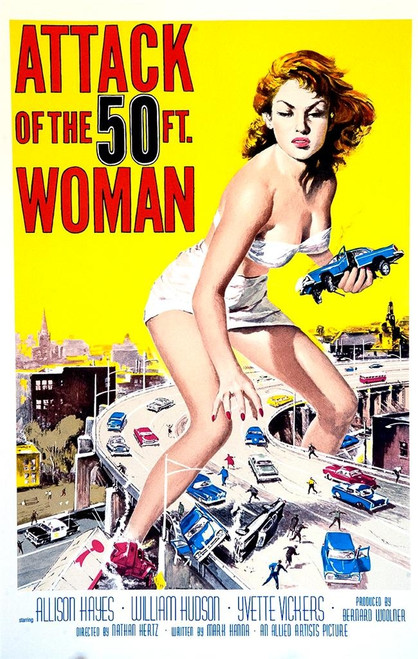 Attack of The 50 Ft Woman Fine Art Poster Lithograph