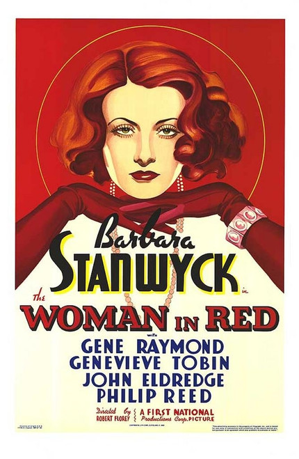 Woman in Red Fine Art Poster Lithograph