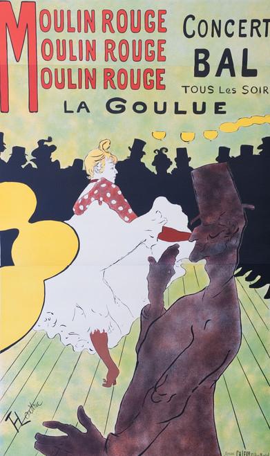 Moulin Rouge La Goulue 3 Sheet Lithograph Henri de Toulouse Lautrec