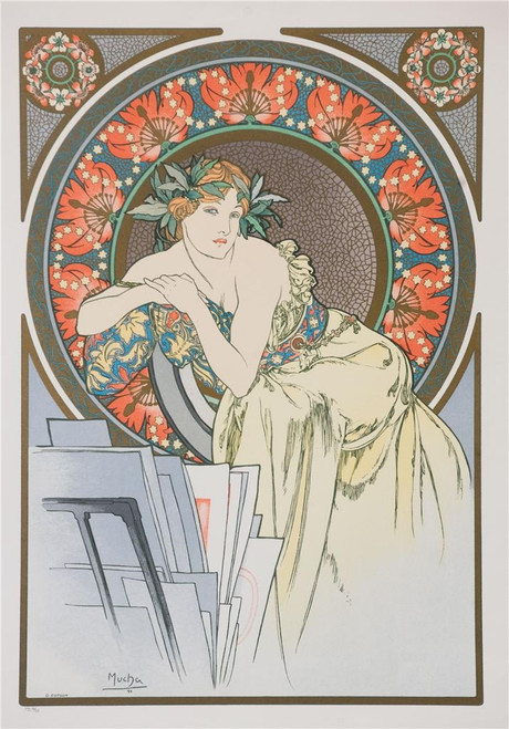 All the Works of Mucha Fine Art Lithograph