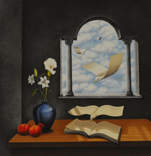 Still Life Calendar of Yesterdays Wishes by Rafal Olbinski